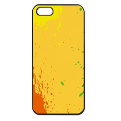 Paint Stains Spot Yellow Orange Green Apple Iphone 5 Seamless Case (black) by Alisyart