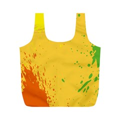 Paint Stains Spot Yellow Orange Green Full Print Recycle Bags (m)  by Alisyart