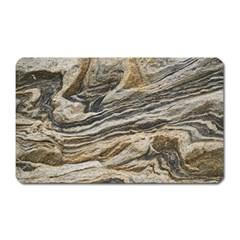 Rock Texture Background Stone Magnet (rectangular) by Amaryn4rt