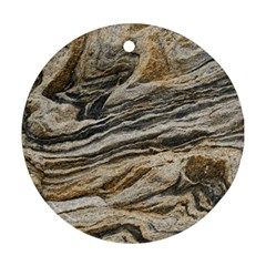 Rock Texture Background Stone Round Ornament (two Sides) by Amaryn4rt