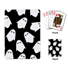 Ghost Halloween Pattern Playing Card by Amaryn4rt