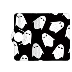 Ghost Halloween Pattern Kindle Fire Hdx 8 9  Flip 360 Case by Amaryn4rt