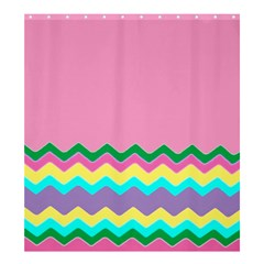 Easter Chevron Pattern Stripes Shower Curtain 66  X 72  (large)  by Amaryn4rt