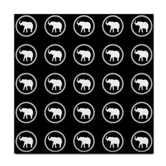 Elephant Wallpaper Pattern Face Towel by Amaryn4rt