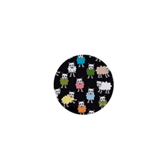 Sheep Cartoon Colorful 1  Mini Buttons by Amaryn4rt