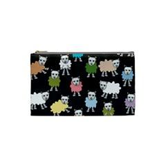 Sheep Cartoon Colorful Cosmetic Bag (small)