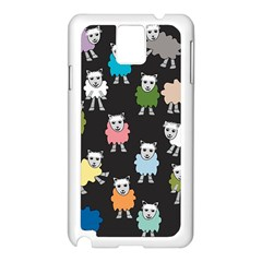 Sheep Cartoon Colorful Samsung Galaxy Note 3 N9005 Case (white)