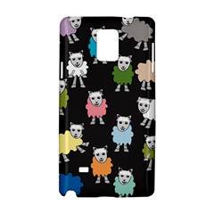 Sheep Cartoon Colorful Samsung Galaxy Note 4 Hardshell Case by Amaryn4rt