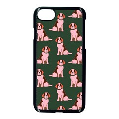 Dog Animal Pattern Apple Iphone 7 Seamless Case (black) by Amaryn4rt