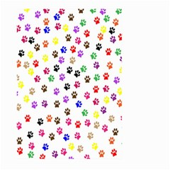 Paw Prints Background Large Garden Flag (two Sides)