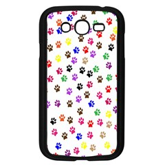 Paw Prints Background Samsung Galaxy Grand Duos I9082 Case (black) by Amaryn4rt
