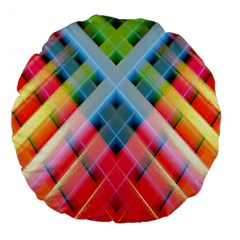 Graphics Colorful Colors Wallpaper Graphic Design Large 18  Premium Flano Round Cushions by Amaryn4rt