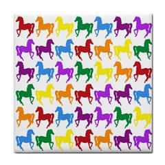 Colorful Horse Background Wallpaper Face Towel by Amaryn4rt