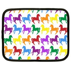 Colorful Horse Background Wallpaper Netbook Case (xl)