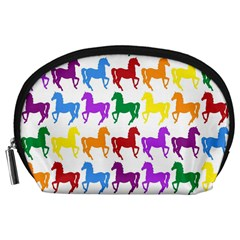Colorful Horse Background Wallpaper Accessory Pouches (large)