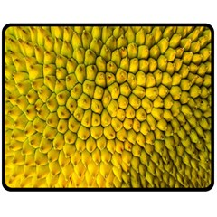 Jack Shell Jack Fruit Close Double Sided Fleece Blanket (medium)  by Amaryn4rt