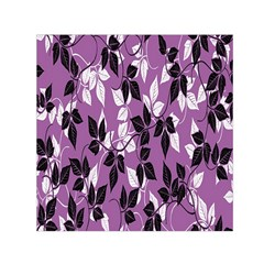 Floral Pattern Background Small Satin Scarf (square) by Amaryn4rt