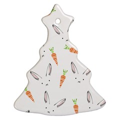 Rabbit Carrot Pattern Weft Step Ornament (christmas Tree)