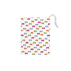 Pattern Birds Cute Design Nature Drawstring Pouches (xs)  by Amaryn4rt