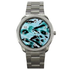 Animal Cruelty Pattern Sport Metal Watch by Amaryn4rt