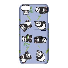 Panda Tile Cute Pattern Blue Apple Ipod Touch 5 Hardshell Case With Stand by Amaryn4rt