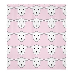 Sheep Wallpaper Pattern Pink Shower Curtain 66  X 72  (large)  by Amaryn4rt