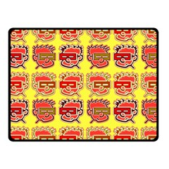 Funny Faces Fleece Blanket (small) by Amaryn4rt