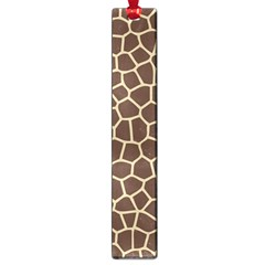 Leather Giraffe Skin Animals Brown Large Book Marks by Alisyart