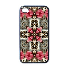 Flowers Fabric Apple Iphone 4 Case (black) by Amaryn4rt