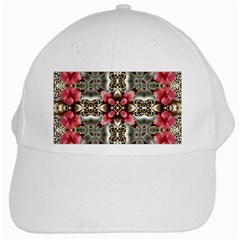 Flowers Fabric White Cap by Amaryn4rt