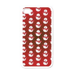 Card Cartoon Christmas Cold Apple Iphone 4 Case (white) by Amaryn4rt