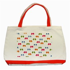 Pattern Birds Cute Design Nature Classic Tote Bag (red) by Amaryn4rt