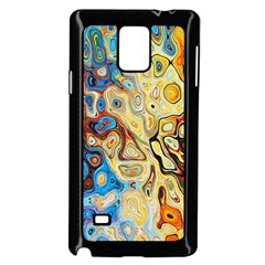 Background Structure Absstrakt Color Texture Samsung Galaxy Note 4 Case (black)