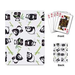 Panda Tile Cute Pattern Playing Card by Amaryn4rt