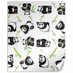 Panda Tile Cute Pattern Canvas 16  X 20   by Amaryn4rt