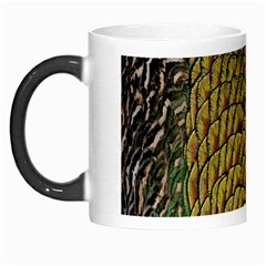 Colorful Iridescent Feather Bird Color Peacock Morph Mugs by Amaryn4rt