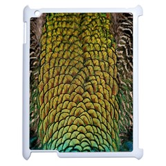 Colorful Iridescent Feather Bird Color Peacock Apple Ipad 2 Case (white) by Amaryn4rt