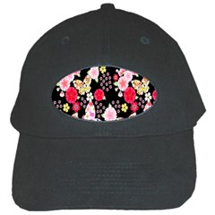 Flower Arrangements Season Rose Butterfly Floral Pink Red Yellow Black Cap by Alisyart