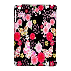 Flower Arrangements Season Rose Butterfly Floral Pink Red Yellow Apple Ipad Mini Hardshell Case (compatible With Smart Cover) by Alisyart
