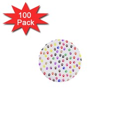 Paw Prints Background 1  Mini Buttons (100 Pack)