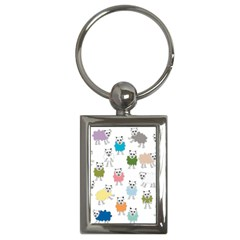Sheep Cartoon Colorful Key Chains (rectangle)  by Amaryn4rt