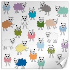 Sheep Cartoon Colorful Canvas 16  X 16   by Amaryn4rt
