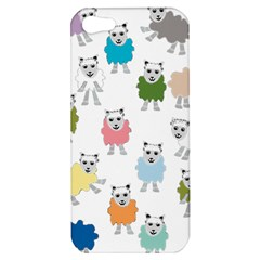 Sheep Cartoon Colorful Apple Iphone 5 Hardshell Case by Amaryn4rt