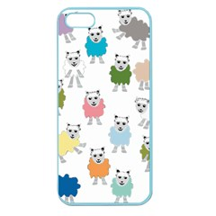 Sheep Cartoon Colorful Apple Seamless Iphone 5 Case (color)