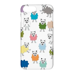 Sheep Cartoon Colorful Apple iPhone 7 Plus Hardshell Case by Amaryn4rt