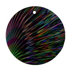 Texture Colorful Abstract Pattern Round Ornament (two Sides) by Amaryn4rt
