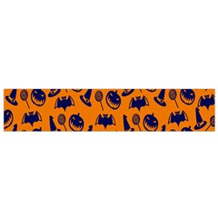 Witch Hat Pumpkin Candy Helloween Blue Orange Flano Scarf (small) by Alisyart