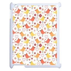 Animal Pattern Happy Birds Seamless Pattern Apple Ipad 2 Case (white) by Amaryn4rt