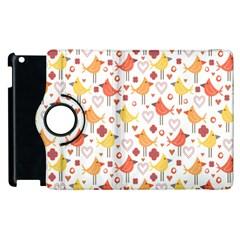 Animal Pattern Happy Birds Seamless Pattern Apple Ipad 3/4 Flip 360 Case by Amaryn4rt