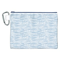Wind Waves Grey Canvas Cosmetic Bag (xxl) by Alisyart